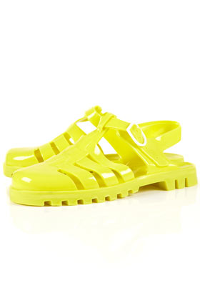 HUEY Jelly Gladiator Sandals High Summer Film Collections Topshop USA