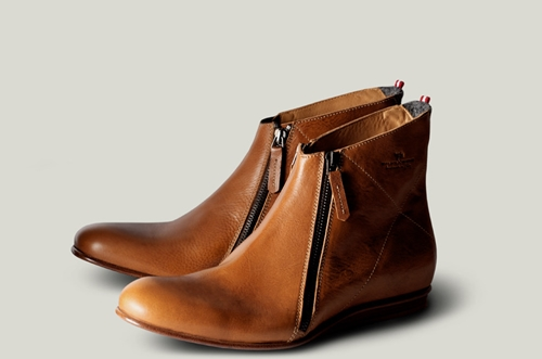 Men's Zip Boot. Handmade In Italy From Uber Premium Vegetable Tanned Leather. Hard Graft