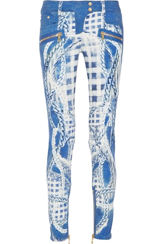 Mid Rise Printed Skinny Jeans Balmain 62 Off The Outnet