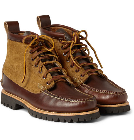 Yuketen Brown Leather And Suede Lace Up Boots Mr Porter
