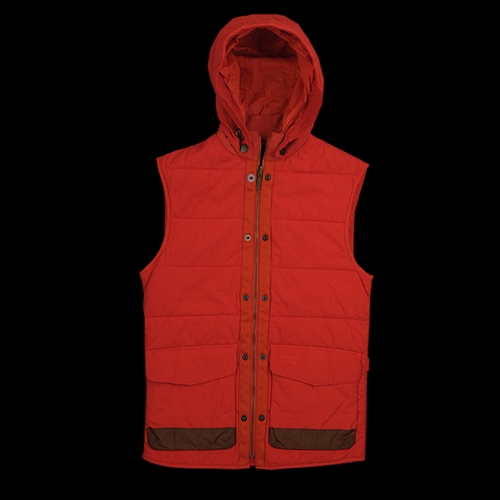 Unionmade Barbour Deck Gilet In Burnt Orange