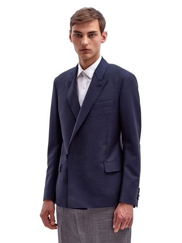 Lanvin Men's Tailored Asymmetric Fastening Mohair Jacket Ln Cc