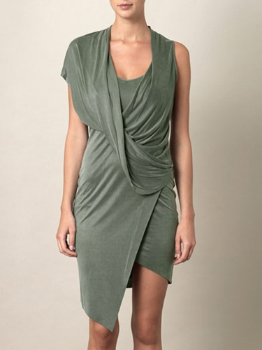 Shale drape front dress Helmut Lang Matchesfashion com