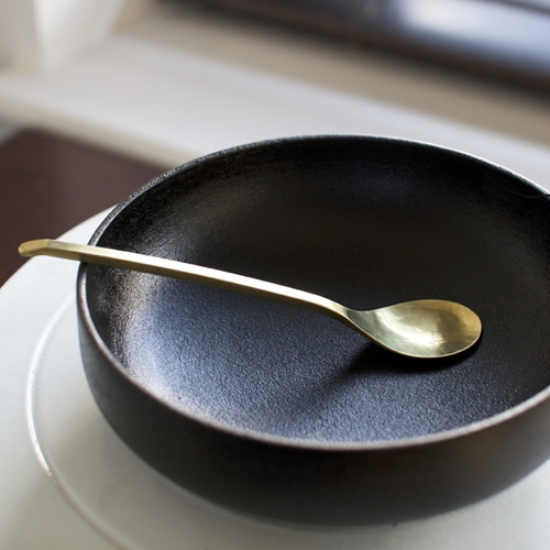 Coffee Spoon In Brass Oen Shop