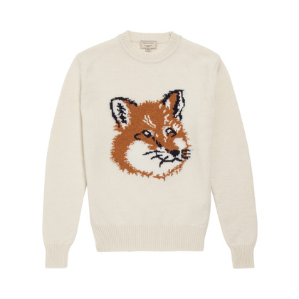 Kitsune Shop Fox Head Pullover Jacquard Fw13