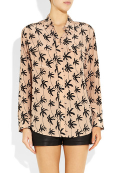 Equipment Signature printed washed silk shirt NET A PORTER COM