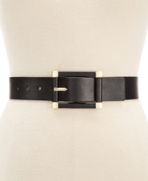 style co style co rectangle wide stretch belt black nuji