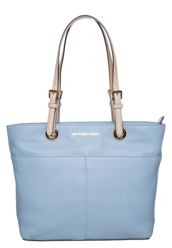 michael michael kors bedford tote bag pale blue light blue. Black Bedroom Furniture Sets. Home Design Ideas