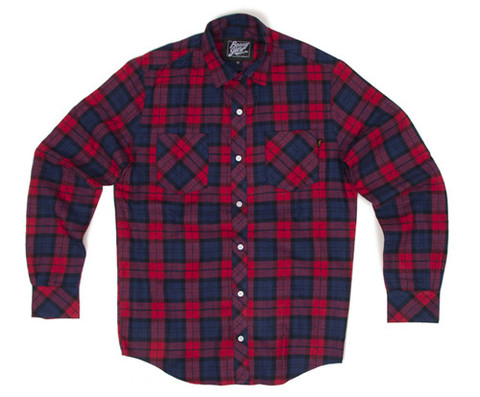Red And Blue Flannel Shirt Mens Full Zip Sweater