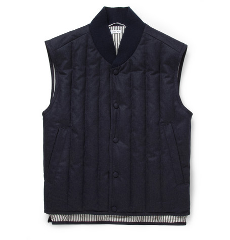 Thom Browne Lightly Quilted Wool And Cashmere Gilet Mr Porter