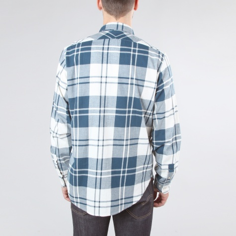 Paul Smith Oversize Check Flannel Shirt Petrol Blue