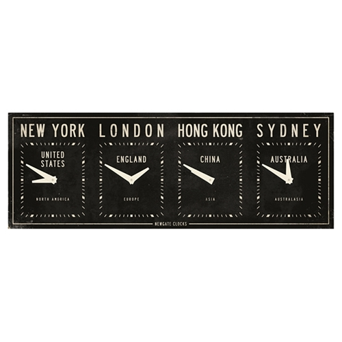 Buy Newgate Fleet ST Time Zone Clock Black online at JohnLewis com John Lewis