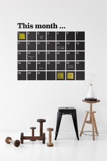 ferm LIVING WallStickers 2058 01 Calendar black