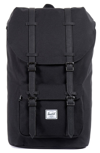 Herschel Supply Backpack Little America Black On Black Karmaloop.Com