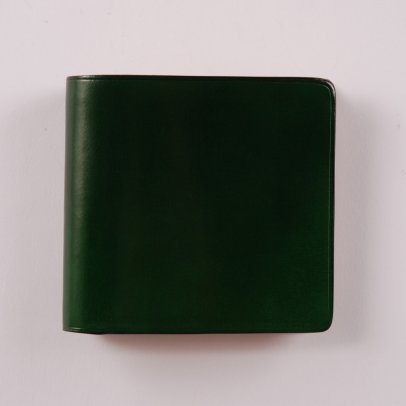 Il Bussetto Bi Fold Wallet Coin Pocket Bright Green