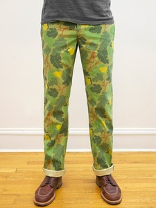 Left Field NYC Left Field x The Hill Side Leaf Camo Miner Chinos