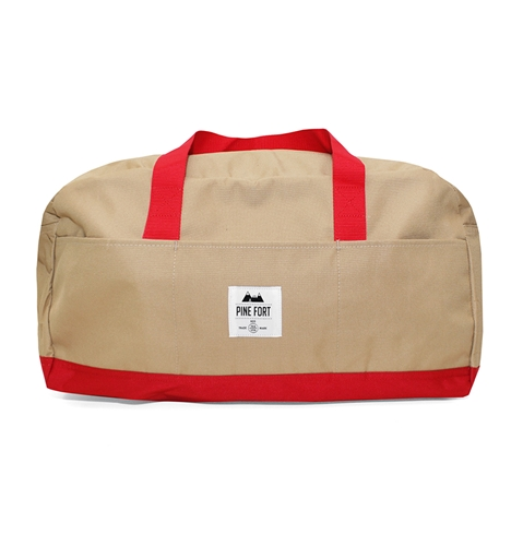 Pine Fort Duffle Bag In Tan And Red Huh. Store