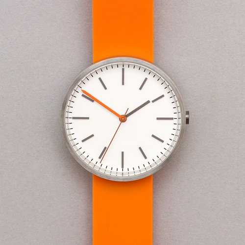 Uniform Wares 104 Series Wristwatch Brushed Orange Rubber Oi Polloi
