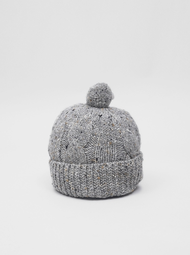William Fox and Sons Bobble Hat Grey Present London