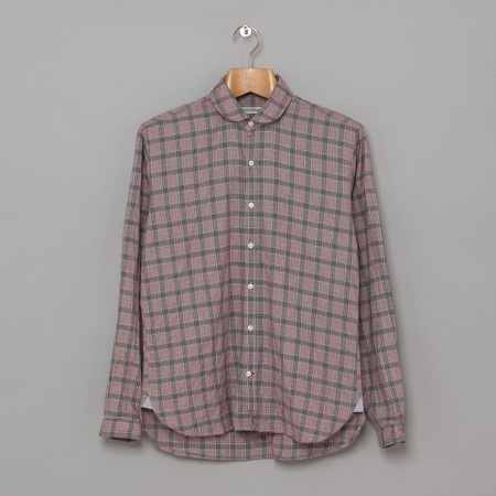 Eton Collar Shirt Rumworth Pink Grey Oi Polloi
