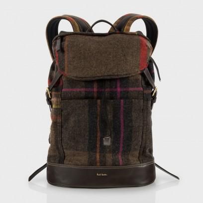 Paul Smith Men's Bags Maharam Check Backpack