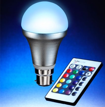 Auraglow Bc B22 Remote Controlled Colour Changing Light Bulb Amazon.Co.Uk Lighting