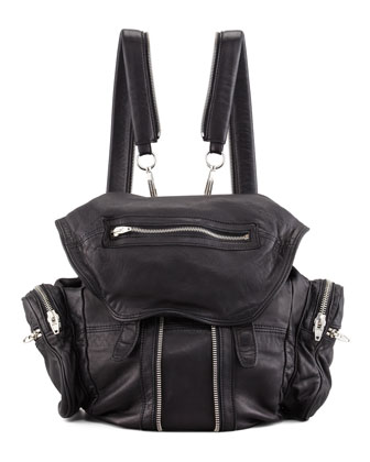 Alexander Wang Marti Zippered Backpack Black Neiman Marcus