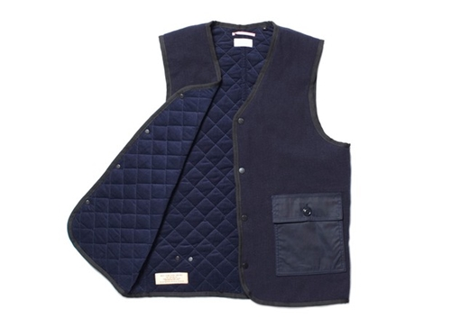 Apolis Indigo Wool Quilted Vest