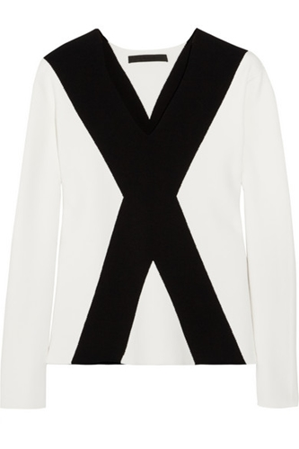 Alexander Wang Intarsia Stretch Knit Sweater Net A Porter.Com