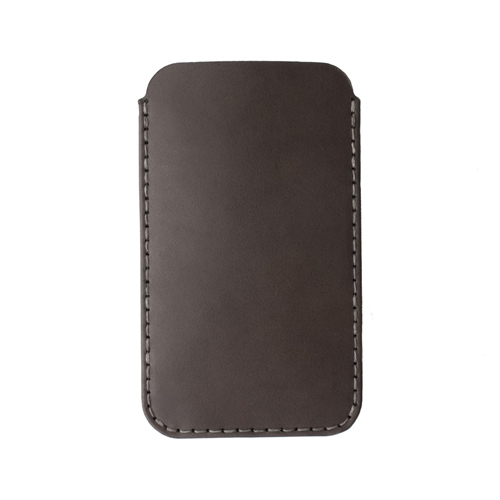 Iphone 6 Plus Sleeve In Charcoal Horween Latigo Leather Made In Usa