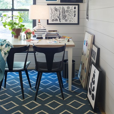 Diamond Rug Blue Rugs Accessories