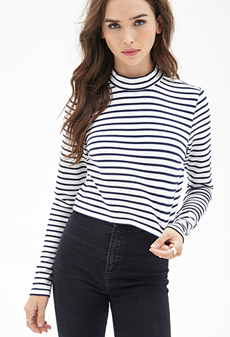 Ribbed Stripe Top Forever21 2000059945