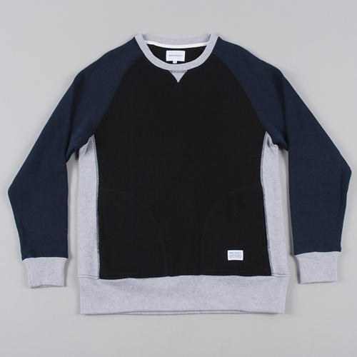 Norse Projects Vorm Light Double Sweat Black