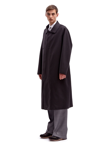 Lanvin Men's Oversized Long Raw Edge Technical Coat Ln Cc