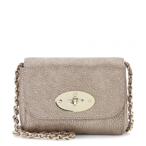 Mulberry Mini Lily Leather Shoulder Bag Metallic | Nuji