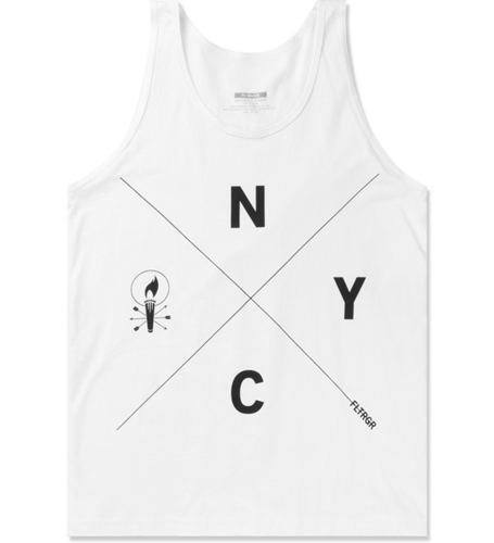 Feltraiger White Nyc Tank Top Hypebeast Store. Shop Online For Men's Fashion Streetwear Sneakers Accessories