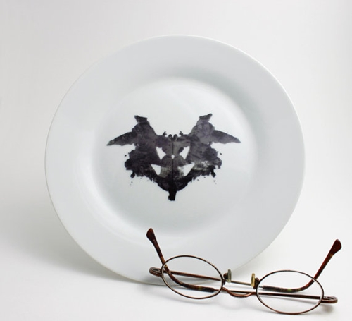 Rorschach Test Psychiatrist Ink Blot Plate in by LLTownleyCeramic