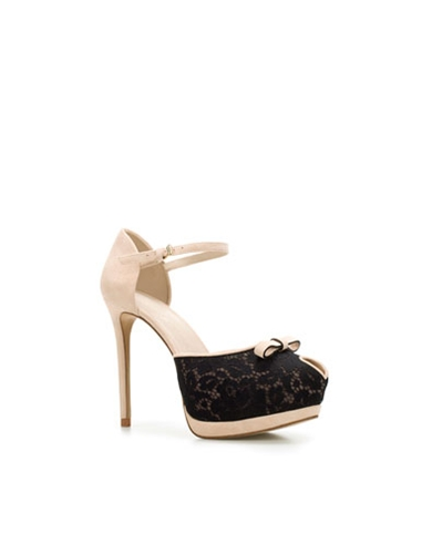 LACE PEEP TOE Shoes Woman ZARA United Kingdom