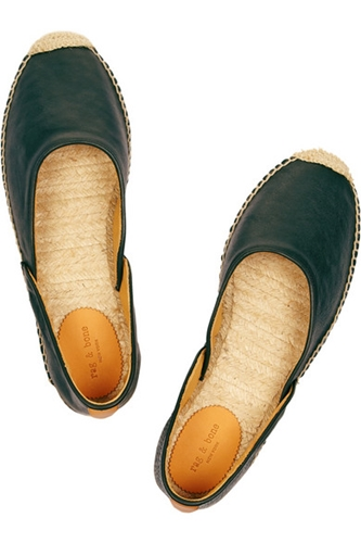Rag Bone Georgie Leather Espadrilles Net A Porter.Com