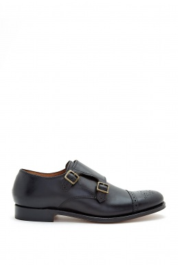 Grenson Black Calf Skin Mabel Shoes By Grenson
