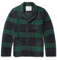 White Mountaineering Lightweight Check Wool Blend Jacket