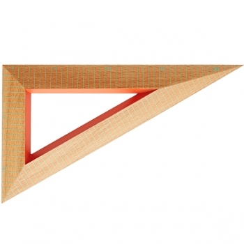Wooden Ruler Triangle Green Lines Home Office Decoration Finnish Design Shop
