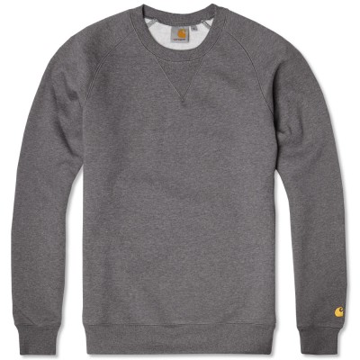 Carhartt Chase Sweatshirt Dark Grey Heather