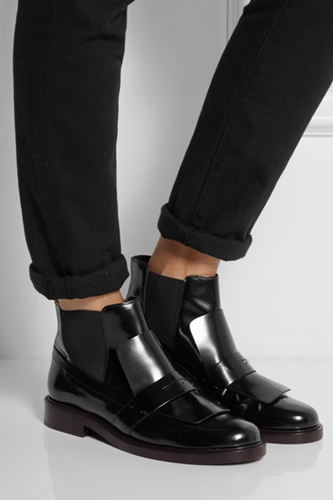 Tod's Leather Ankle Boots Net A Porter.Com