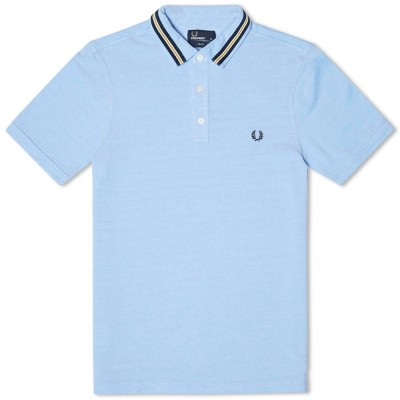 Fred Perry Slim Fit Sports Tape Polo Light Smoke