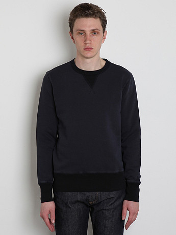 YMC Men s Crew Neck Sweatshirt in navy at oki ni