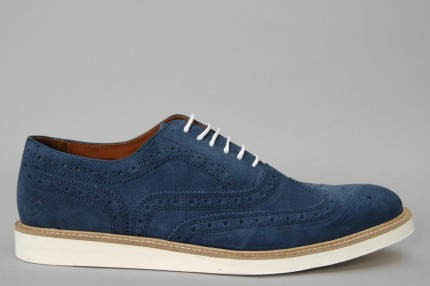 Silas Wingtip Brogue Blue Footwear