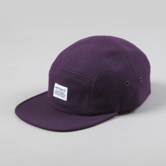 Norse Projects Wool Flannel 5 Panel Cap Deep Amethyst
