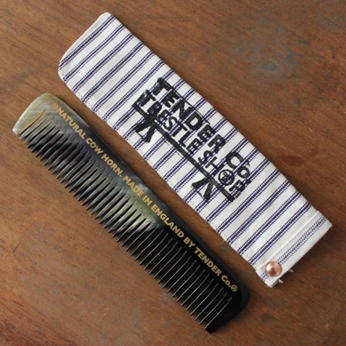 NATURAL SAND POLISHED COW HORN COMB The Tender Co Trestle Shop