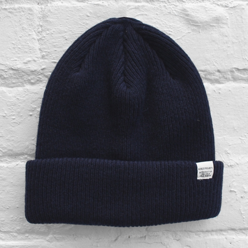 Norse Projects Norse Beanie Navy Fusshop